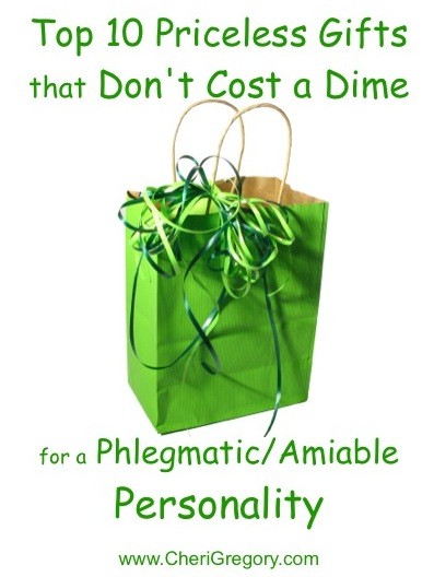 Top 10 Priceless Gifts That Don't Cost a Dime for a Phlegmatic Amiable Personality