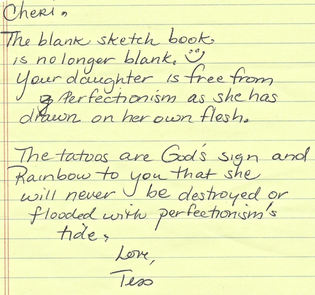 My Daughter's Tattoos Note from Tess