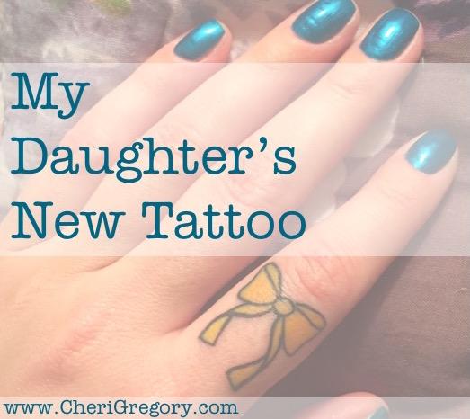 My Daughter's New Tattoo IMAGE